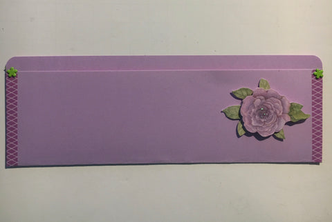 pocket envelope, violet, long card envelope