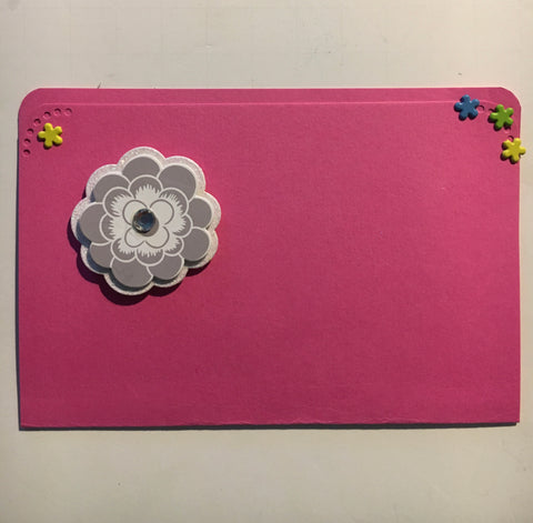 pocket envelope, pink, gift card envelope