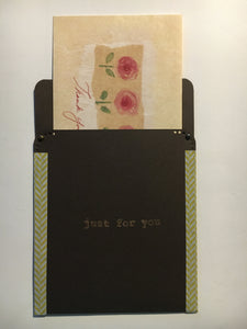 pocket envelope, brown, gift card envelope
