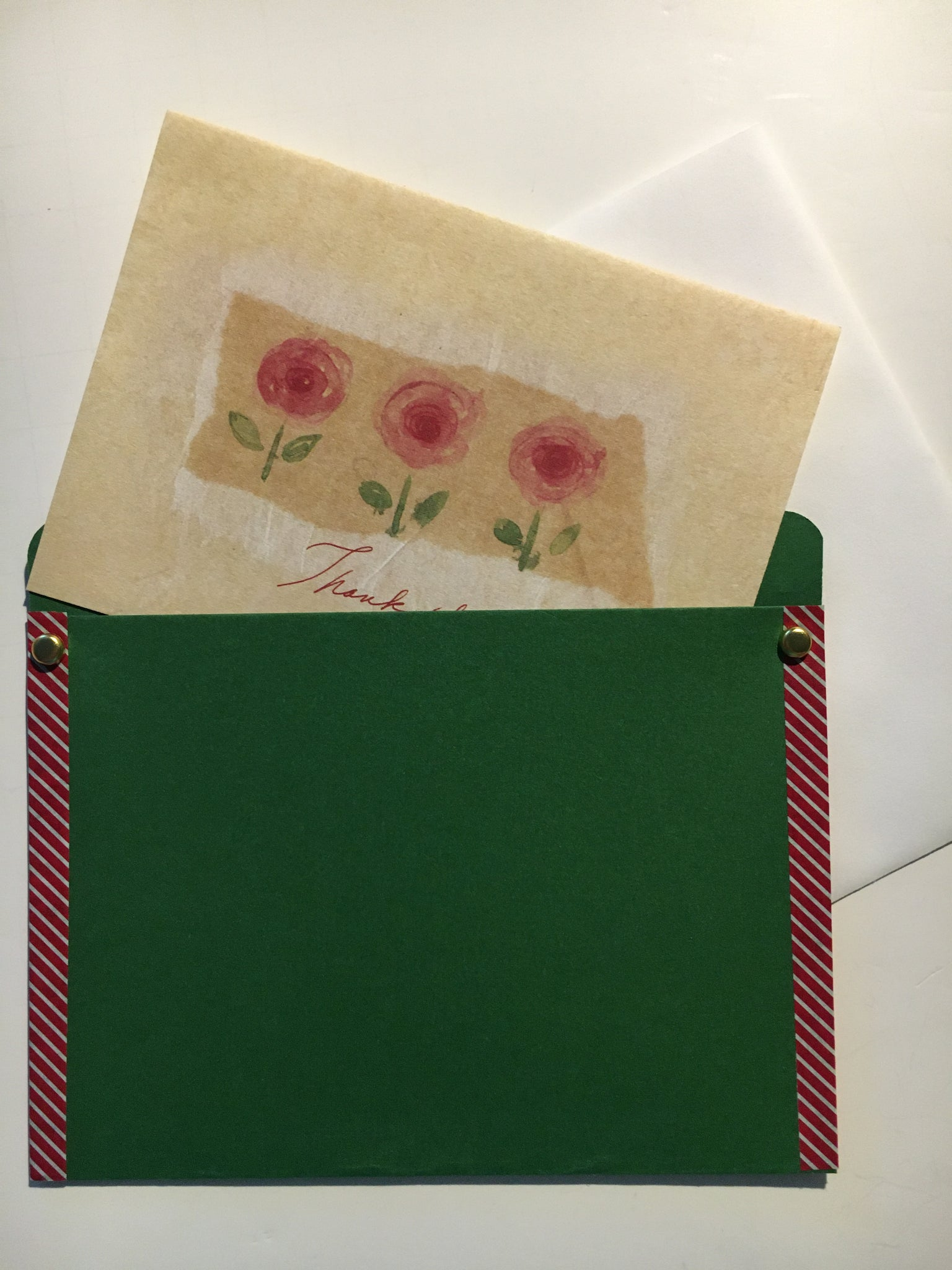 pocket envelope, green, red, gift card envelope