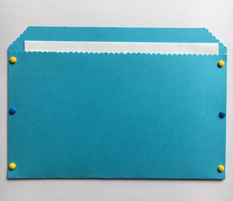 pocket envelope, blue, large envelope
