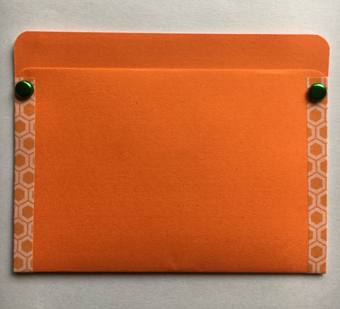 pocket envelope, orange, gift card envelope