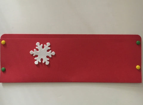 pocket envelope, red, long card envelope