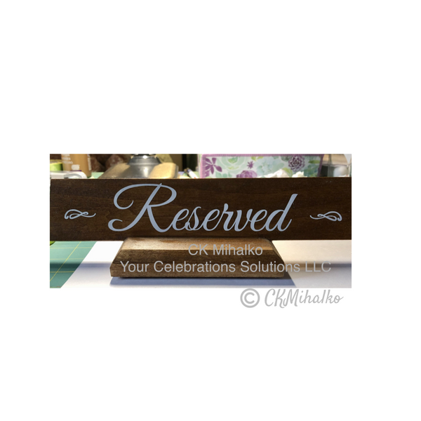 wedding reserved sign lettering