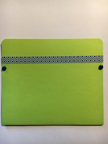 pocket envelope, lime green, gift card envelope