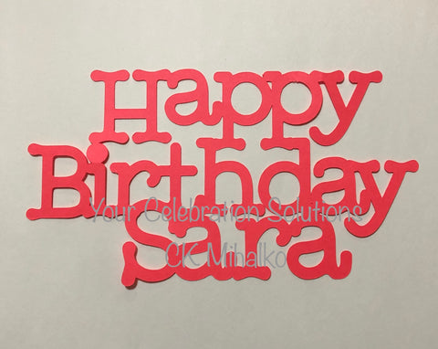 Birthday Cake Topper with 3 rows