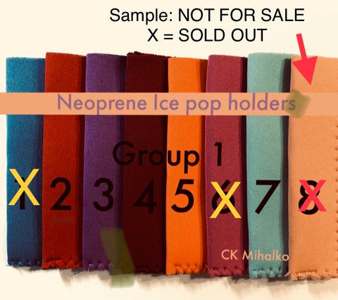 Freeze Pop Holders / Neoprene