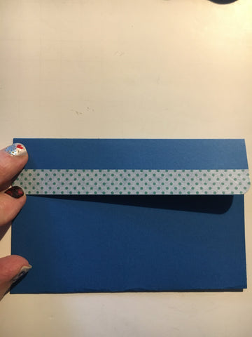 pocket or folded top envelope, blue, gift card envelope