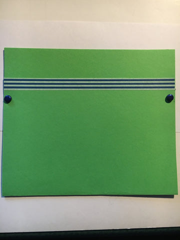 pocket envelope, bright green, gift card envelope