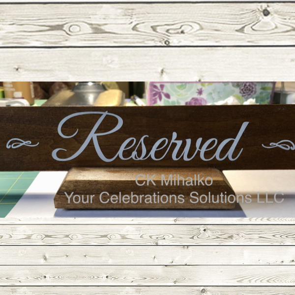 reserved table lettering for weddings