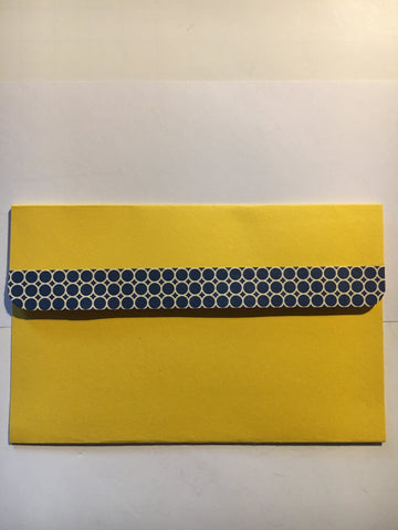 pocket envelope, yellow, gift card envelope
