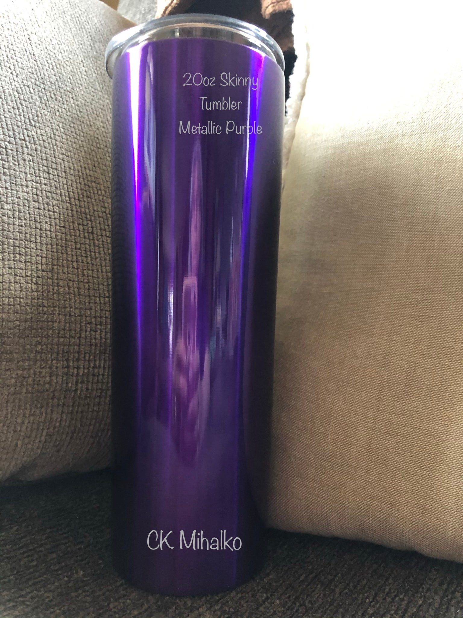 20oz tumbler - metallic purple