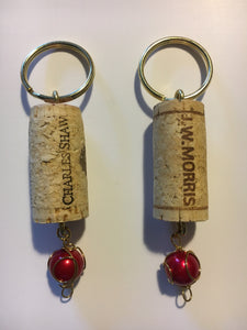 wine-cork-key-chain, wine-cork-wine-glass-charm