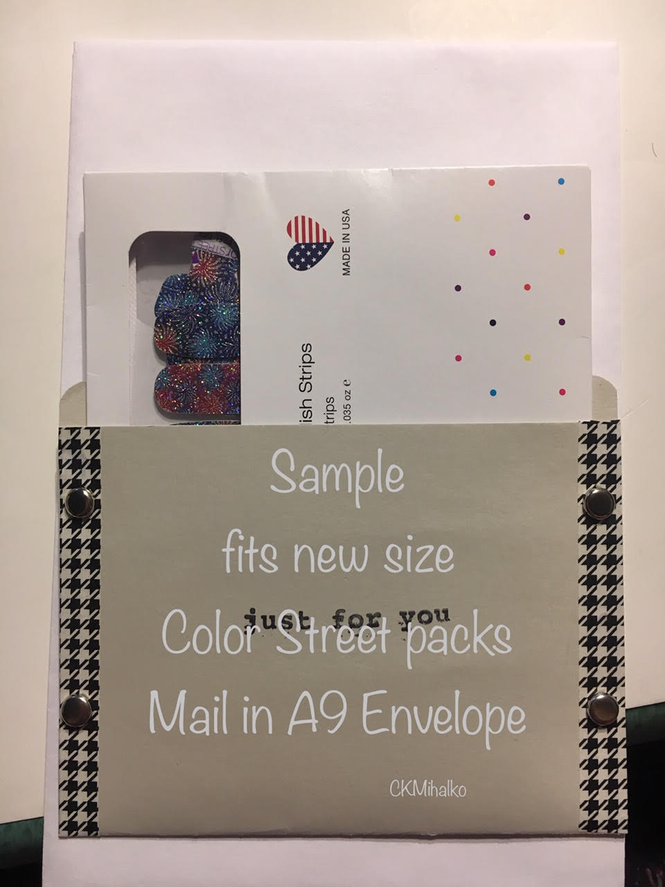 pocket envelope, gray, color street gift card envelope