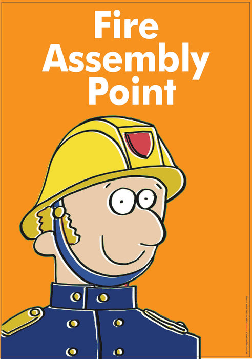 Fire Assembly Orange Sign