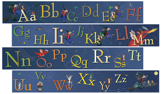 Room on the Broom Alphabet Frieze