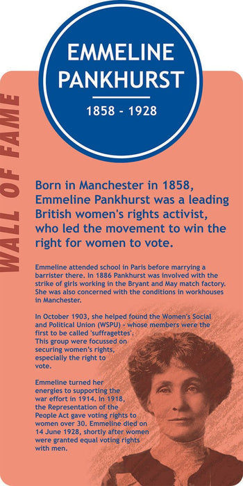 Famous Faces Signs Emmeline Pankhurst