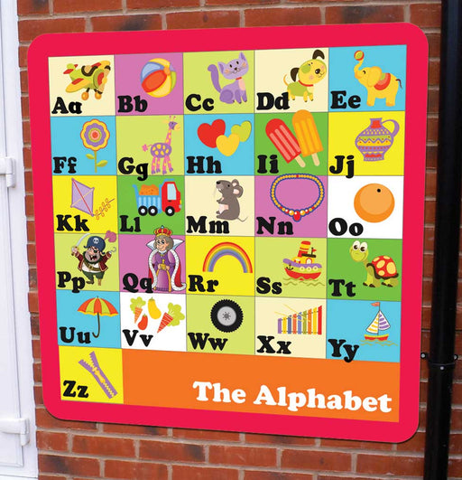 Illustrated Outdoor Alphabet Sign