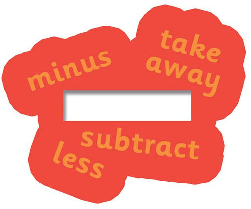 Maths symbols signs - Subtract / Jumbo