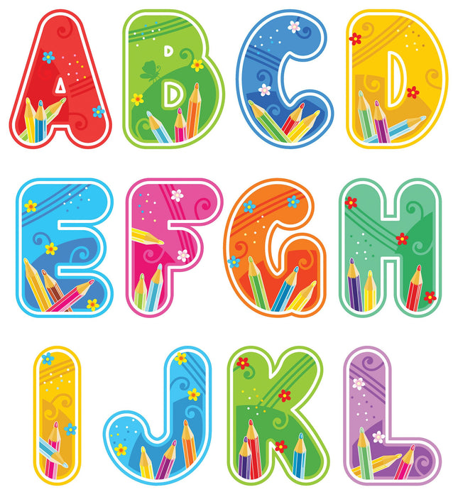 Funky Cut-out Letters Complete Alphabet