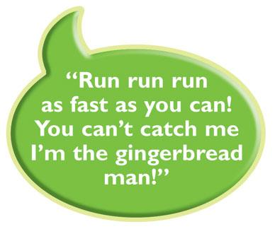 Gingerbread Man Quote Sign