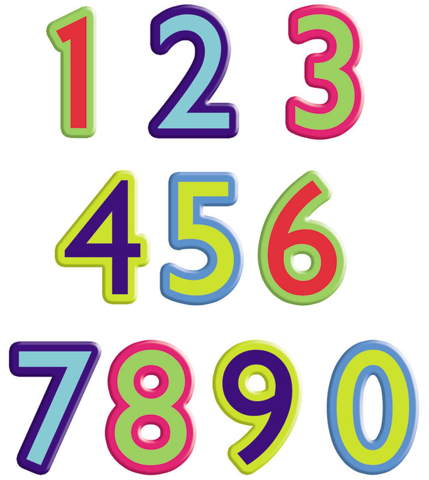 Colourful Cut-Out Numbers