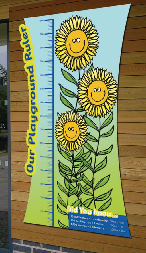 Sunflower Ruler Metric and Imperial