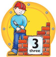 Busy Builder Number Sign Number 3