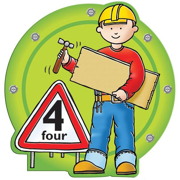 Busy Builder Number Sign Number 4