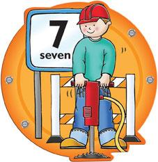 Busy Builder Number Sign Number 7