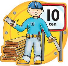 Busy Builder Number Sign Number 10