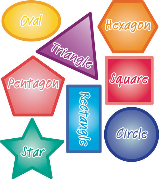 Colourful Shape Signs Set of 8