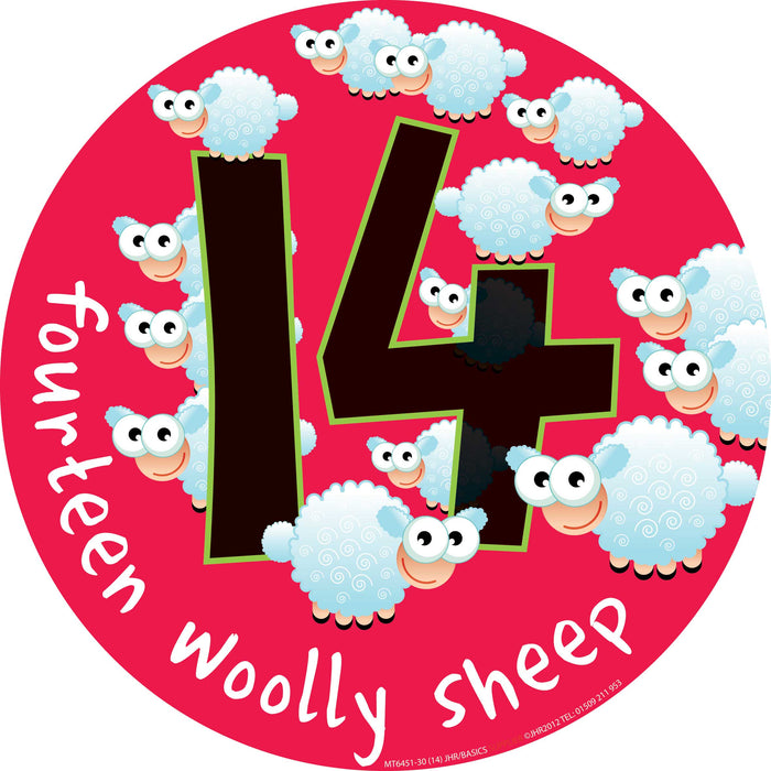 Mighty Number Signs Set of 11 to 15