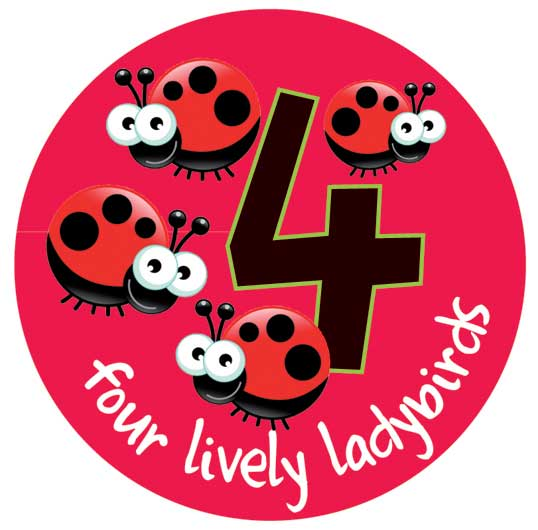 Mighty Number Signs Set of 1 to 5