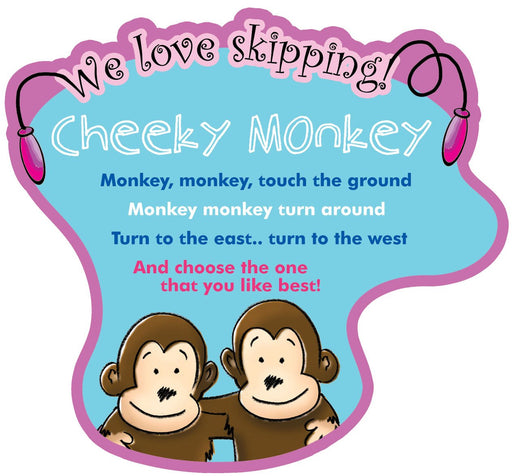 We Love Skipping Games Sign Cheeky Monkey