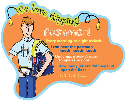 We Love Skipping Games Sign Postman