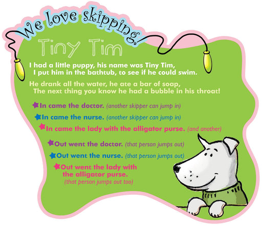 We Love Skipping Games Sign Tiny Tim