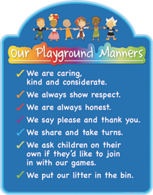 Playground Manners Sign