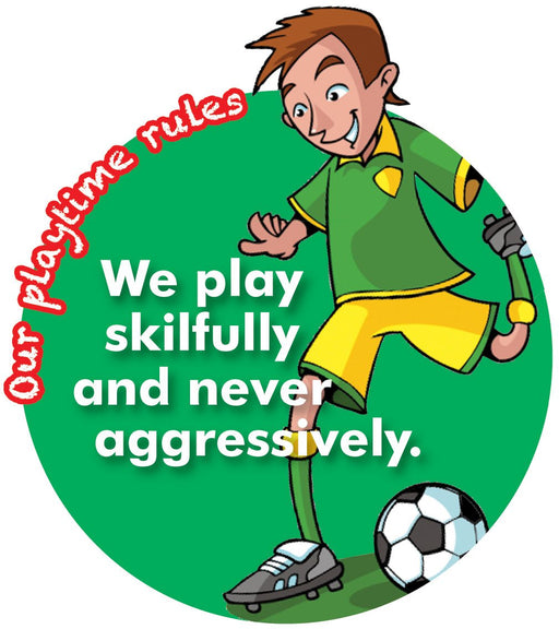 Playtime Rules Sign Skilful