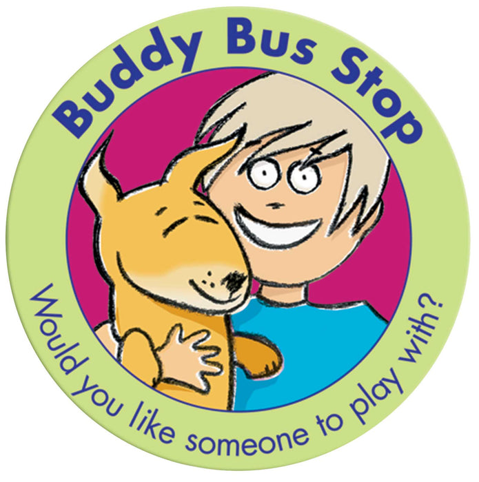 Dog and Boy Buddy Bus Stop