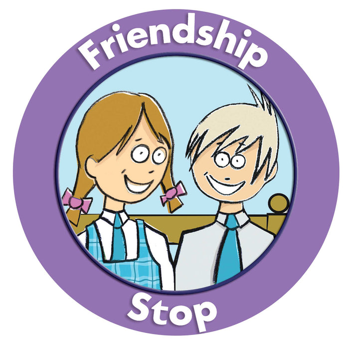 Friendship stop Boy and Girl Buddy Bus Stop