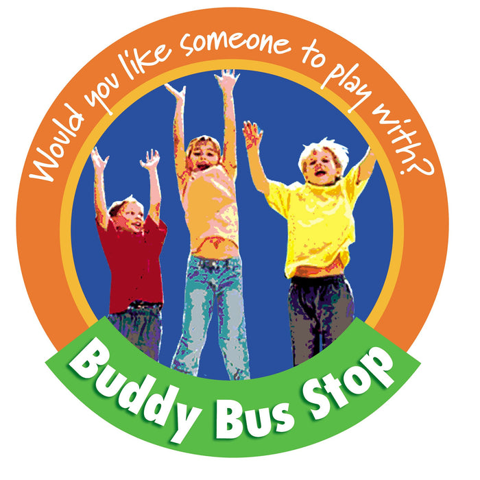 Children Jumping 2 Buddy Bus Stop