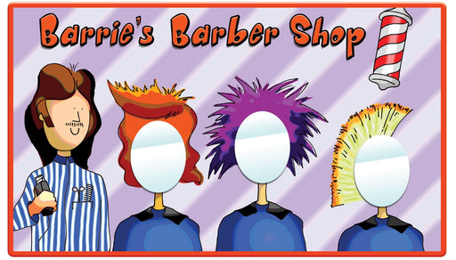 Barrie's Barber Shop Mirror
