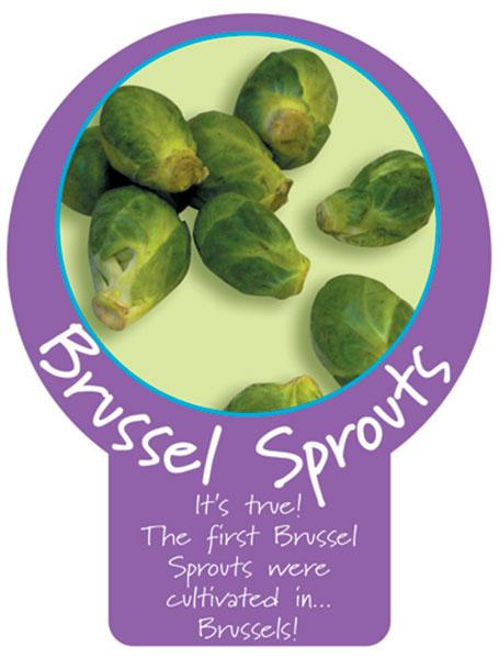 Brussel Sprouts  Paddle Sign