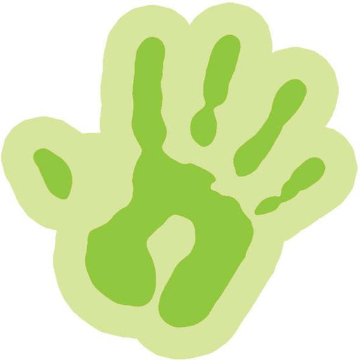Funky cut-out hand - Lime / Large