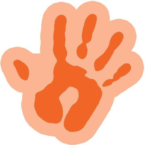 Funky cut-out hand - Orange / Large