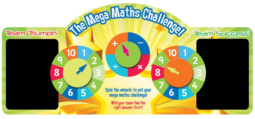 Mega Maths Challenge Spin Wheel Game