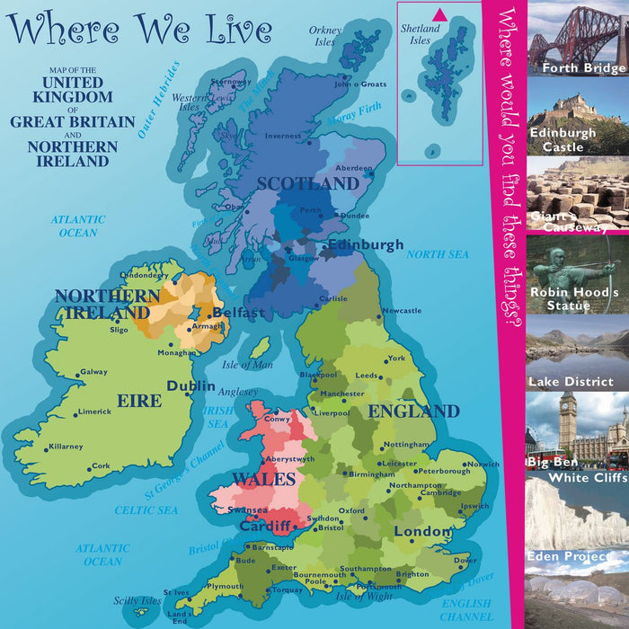 British Isles Square Map