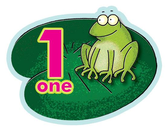 Counting Frog Window Clings 1-5