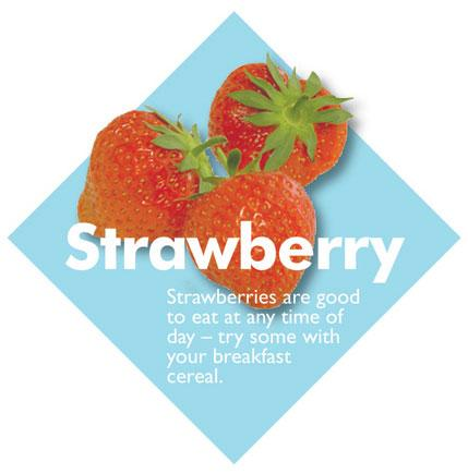 Fruit Diamond Signs - Strawberry